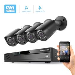 Amcrest HD 1080P-Lite 4CH Video Security Camera System w/ Fo