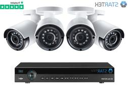 Metal 1080P 4CH NVR 2MP HD Wireless Security Camera System W