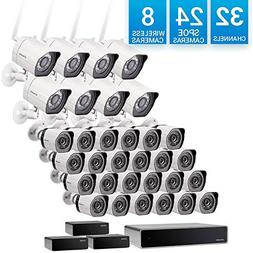 Zmodo 32 Channel 1080p Network Surveillance NVR System 24 sP