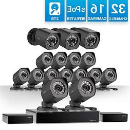 Zmodo 32 Channel 1080P HDMI NVR Security System 16 x720P IP