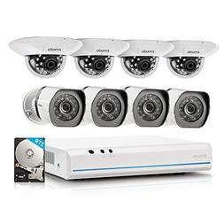 Zmodo 8 Channel 720p NVR system with 8 HD Indoor/Outdoor IP