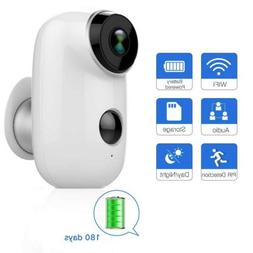 Outdoor Security Camera Wireless Rechargeable Battery Home S