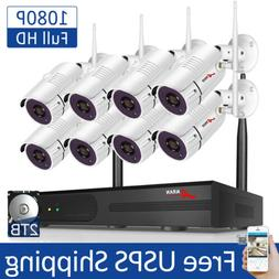 ANRAN Outdoor WiFi Security Camera System CCTV 1080P 8CH NVR