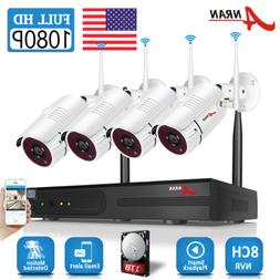 ANRAN Security Camera System Wireless 1080P WIFI 8CH NVR 4 6