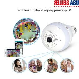 Panoramic Bulb Camera Wireless IP Cameras Wi-fi Security 960