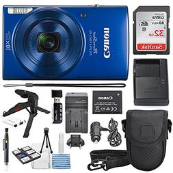 Canon PowerShot ELPH 190 IS Digital Camera Blue with 10x Opt