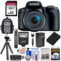 Canon PowerShot SX70 HS 4K Wi-Fi Digital Camera with 32GB Ca