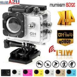 Pro Action Camera 4K 1080P Camcorder Waterproof Sport Video