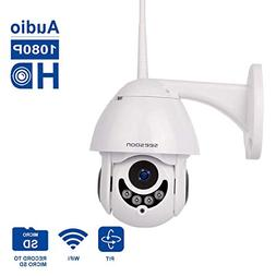 PTZ WiFi IP Camera 1080P HD H.265/H.264 Wireless Waterproof