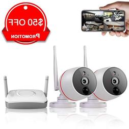 Remote Home Monitoring Security Camera System Wireless, 2Pcs