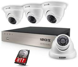 Security Camera System W/ 4-Wired Dome Motion Activated Nigh