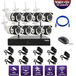 Security Outdoor 8CH Wireless Wifi NVR System IR HD 720P IP