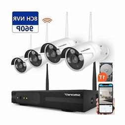【2019 New】 Wireless Security Camera System,SMONET 1080P