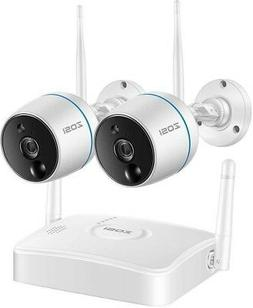 Security System W/ 2-Wireless Bullet Camera Motion Activated