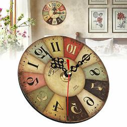 Home Room Antique Decor Wall Clocks Decoration Clock Shabby