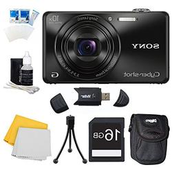 Sony DSC-WX220/B Black Digital Camera Bundle Includes Camera
