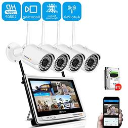 【Newest Strong WiFi Version】 Jennov Security Camera Syst