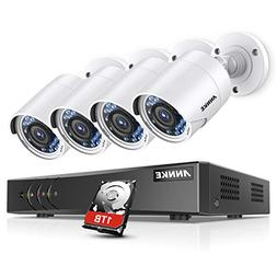 ANNKE Surveillance Camera System, 1080P 8CH DVR Home Securit