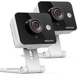 Zmodo Two-Way Audio Mini WiFi Home Security Camera 2 pack