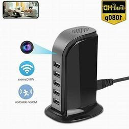 USB WIFI 1080P Nanny Camera DVR Socket Charger Hidden Camera