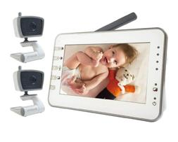 Video Baby Monitor with 2 Cameras, 4.3 Inches Screen, Non-Wi
