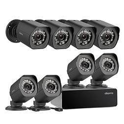 Zmodo 8 Pack 720P HD Weatherproof sPoE Security Camera w/8CH