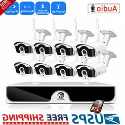 WI-FI Wireless 8CH 1080P NVR Outdoor 4/6/8 X1080P Home Secur