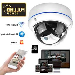 Wifi 1080P CCTV Wireless Outdoor Dome P2p Security SD Slot C
