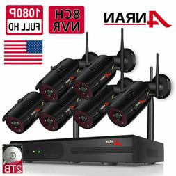ANRAN Wifi 8CH CCTV Security Camera System Wireless NVR Outd