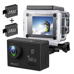 Action Camera,1080P WiFi 12MP Sports Camera Full HD 30m Wate