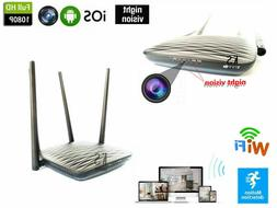 WIFI IP wireless camera 1080P HD night vision IR Router hidd