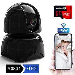 WiFi Security Camera Home 1080P Include 32GB Card,IP Surveil
