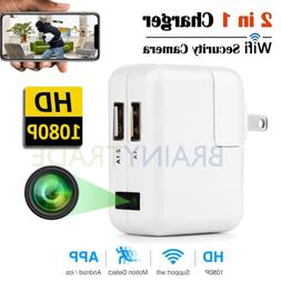 WiFi Spy Hidden Motion Camera Wall Charger HD 1080P Recorder