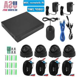 Wired Security 4 Dome Cameras System 4CH 1080P 3TB HDD CCTV