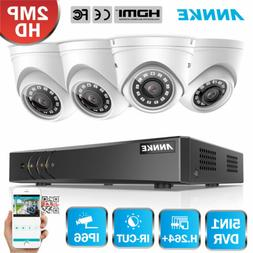 US ANNKE 1080P 4CH DVR 4x 2MP Smart Home Security Camera Sys
