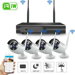 Wireless 4CH 1080P NVR Outdoor IR Night Vision WiFi Camera H