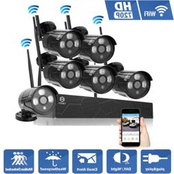 Wireless 8CH 720P NVR Outdoor Wifi HD Night Vision Camera Ho