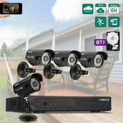 Wireless 8CH NVR 720P WIFI CCTV Cameras Home Security System
