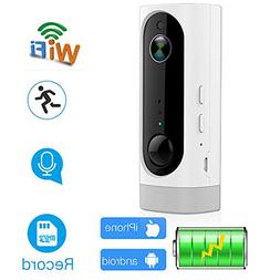 ANBAHOME Wireless Battery Powered Camera,Rechargeable 1080P