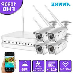 ANNKE Wireless HD 1080P H.264+ 8CH NVR 2MP IR In/Outdoor Sec