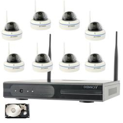 Wireless Home Security System Night Vision Remote Access 8pc