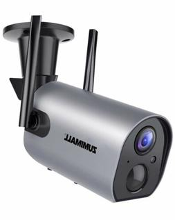 Wireless Outdoor WiFi Security Camera, Rechargeable Battery-