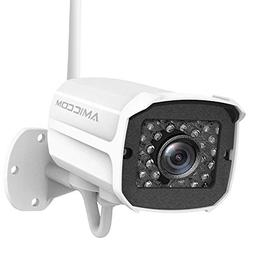 AMICCOM Outdoor Security Camera- 1080P HD Video Surveillance