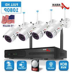 ANRAN Home Security Camera System Wireless 8CH 1080P 1TB HDD