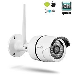 Wireless Security Camera, 1080P Outdoor WiFi IP Surveillance