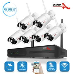 ANRAN Wireless Security IP Camera System 1080P WIFI 8 Channe