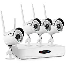 ANNKE 1080P Wireless Security Camera System 4CH Wireless WIF