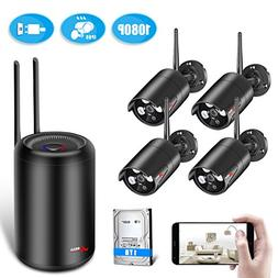 Wireless Security Camera System, ANRAN 1080p Home Surveilla