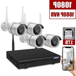 Home Security Camera System Wireless Outdoor,OHWOAI 8 Channe
