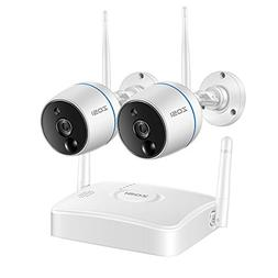 ZOSI Wireless Security Cameras System, 1080P 4CH Mini NVR an